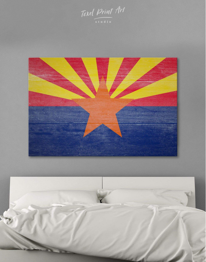 State Flag of Arizona Canvas Wall Art - Image 0