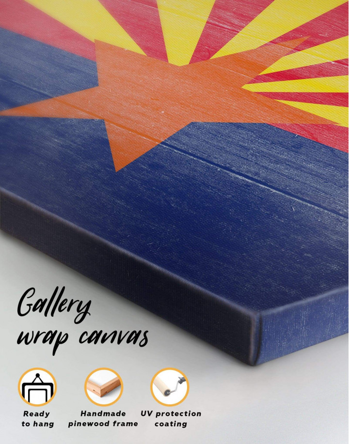 State Flag of Arizona Canvas Wall Art - Image 5