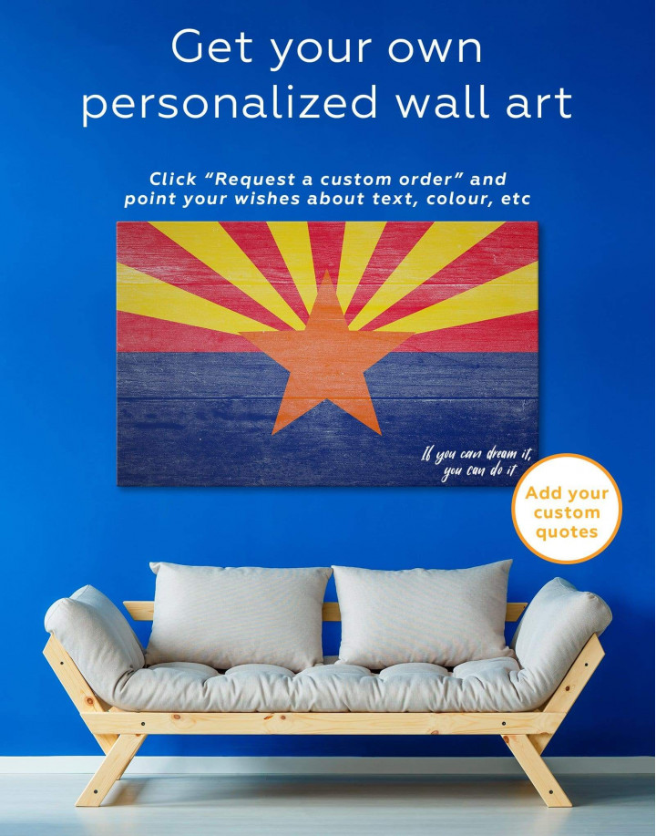 State Flag of Arizona Canvas Wall Art - Image 1