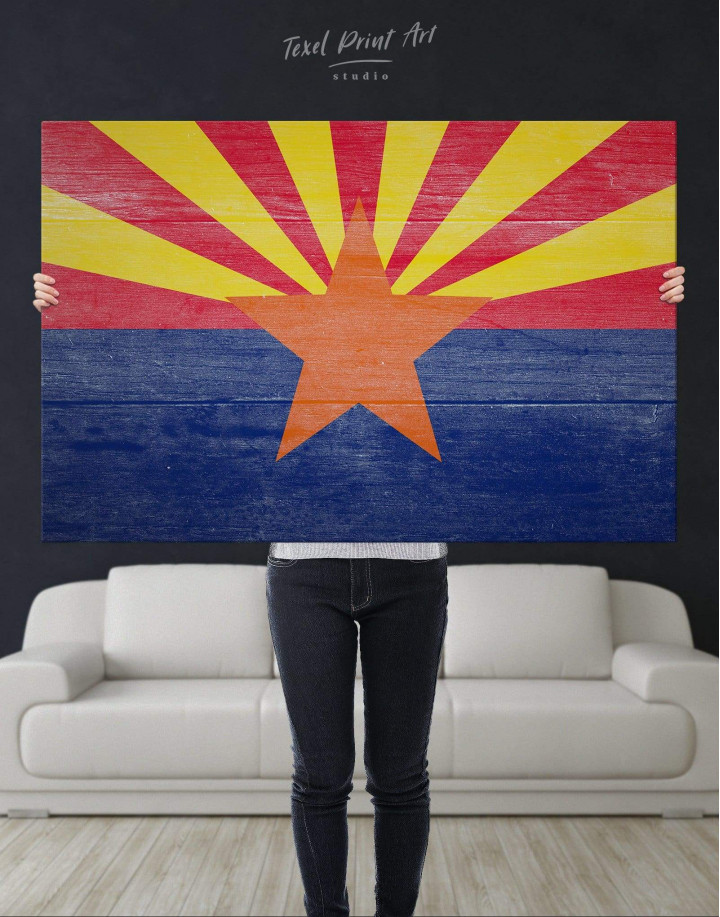 State Flag of Arizona Canvas Wall Art - Image 4