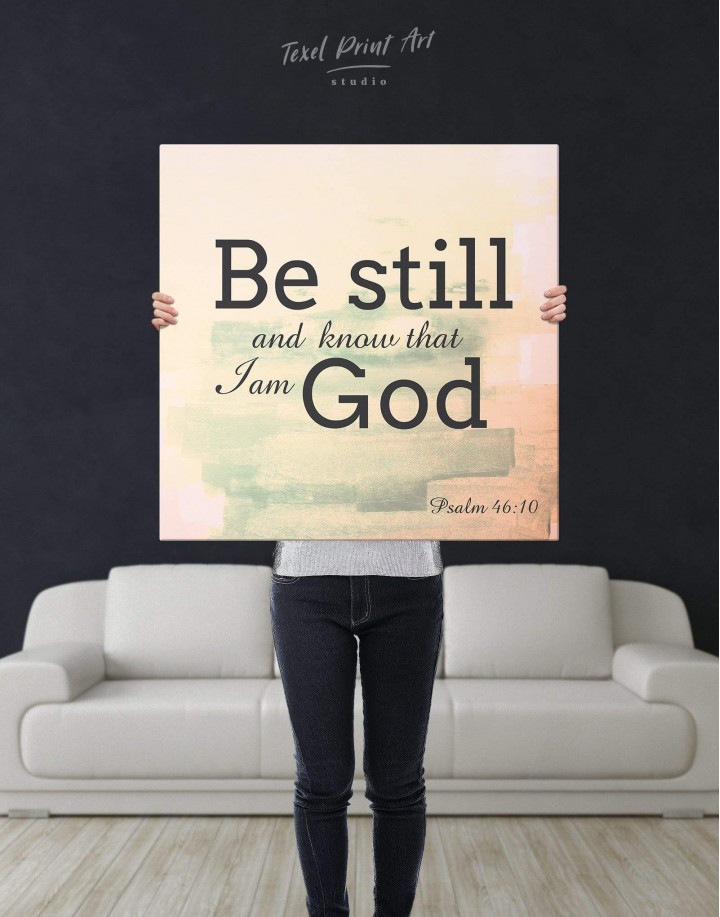 Be Still And Know That I Am God Canvas Wall Art - Image 2