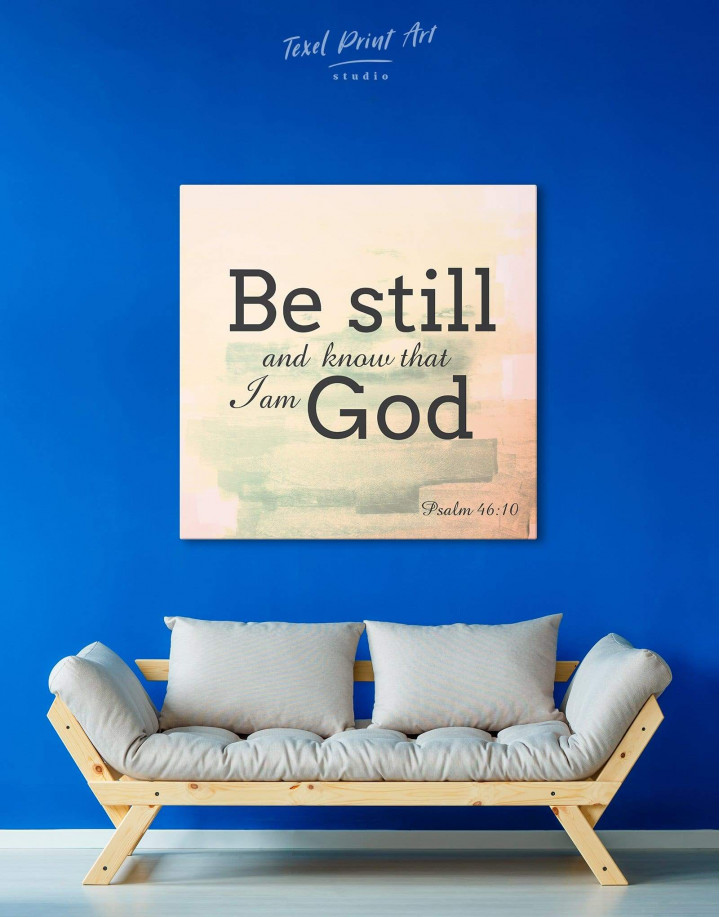 Be Still And Know That I Am God Canvas Wall Art - Image 0