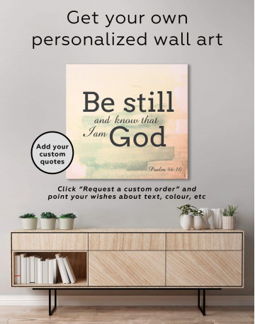 Be Still And Know That I Am God Canvas Wall Art - image 4