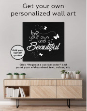 Be Your Own Kind of Beautiful Canvas Wall Art - Image 3