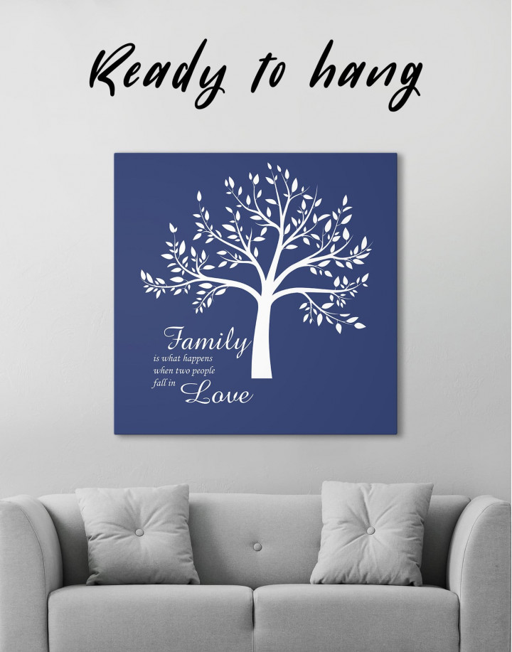 Family Is What Happens When Two People Fall in Love Canvas Wall Art - Image 0