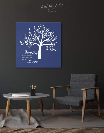 Family Is What Happens When Two People Fall in Love Canvas Wall Art - image 3