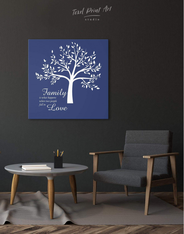 Family Is What Happens When Two People Fall in Love Canvas Wall Art - Image 2