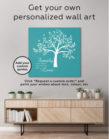 Family Is What Happens When Two People Fall in Love Canvas Wall Art - image 4