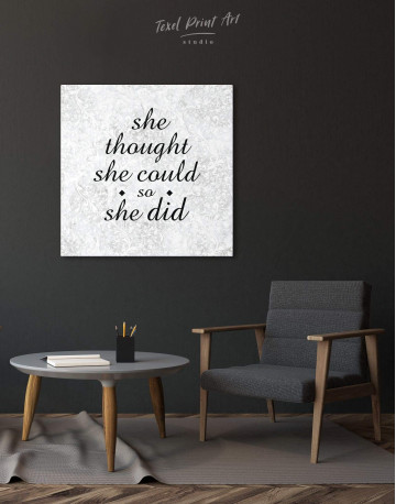 She Thought She Could So She Did Canvas Wall Art - image 2