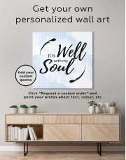 It Is Well With My Soul Canvas Wall Art - Image 1
