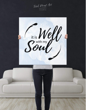 It Is Well With My Soul Canvas Wall Art - image 3