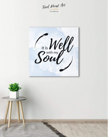 It Is Well With My Soul Canvas Wall Art - image 2