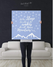 Let Her Sleep for When She Wakes She Will Move Mountains Canvas Wall Art - Image 3