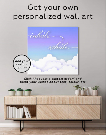 Inhale Exhale Canvas Wall Art - image 1