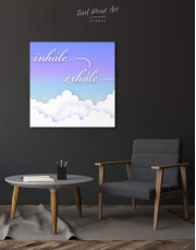 Inhale Exhale Canvas Wall Art - Image 2