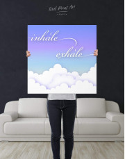 Inhale Exhale Canvas Wall Art - Image 3