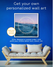 Framed Spirit Lead Me Where My Trust Is Without Borders Canvas Wall Art - Image 1