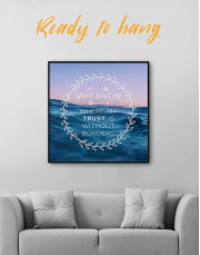 Framed Spirit Lead Me Where My Trust Is Without Borders Canvas Wall Art