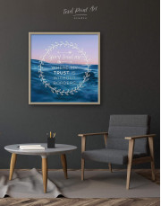 Framed Spirit Lead Me Where My Trust Is Without Borders Canvas Wall Art - Image 4