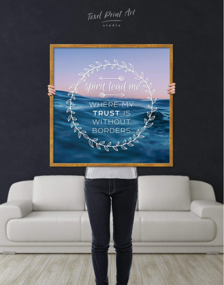 Framed Spirit Lead Me Where My Trust Is Without Borders Canvas Wall Art - Image 3