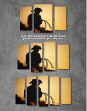 Cowboy Silhouette Canvas Wall Art - Image 2