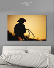 Cowboy Silhouette Canvas Wall Art