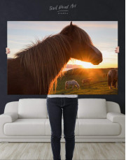 Horse and Sunset Canvas Wall Art - Image 4