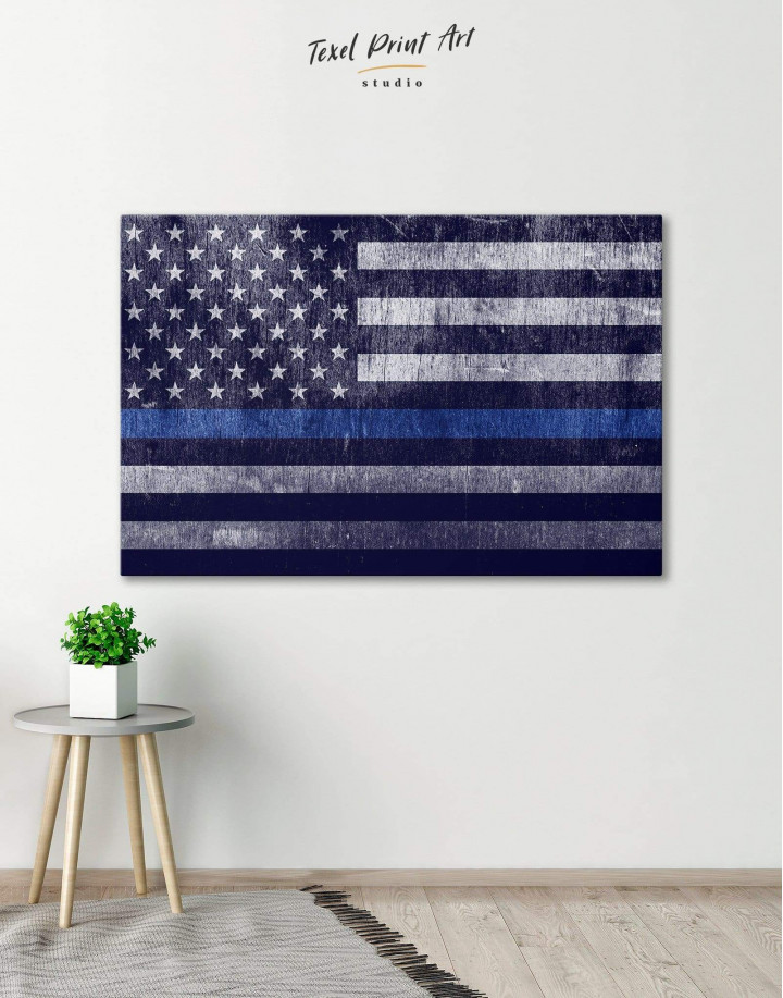 Modern Flag Of The USA  Canvas Wall Art - Image 0