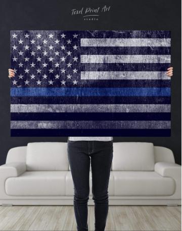Modern Flag Of The USA Canvas Wall Art - image 4