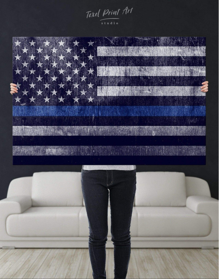 Modern Flag Of The USA  Canvas Wall Art - Image 4
