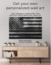 Modern Flag Of The USA Canvas Wall Art - Image 1