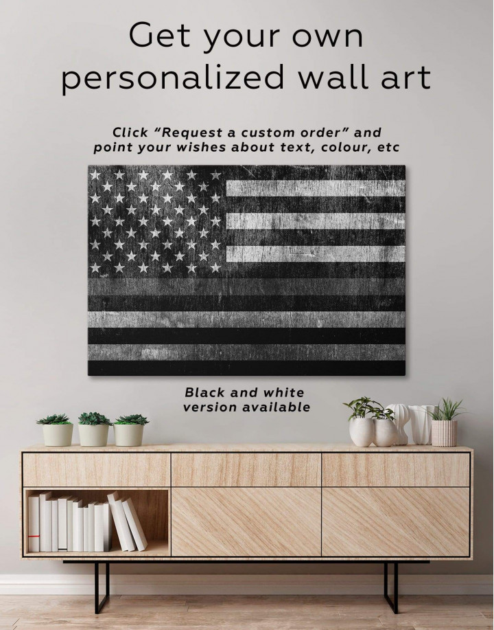 Modern Flag Of The USA  Canvas Wall Art - Image 1