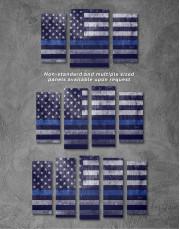 Modern Flag Of The USA Canvas Wall Art - Image 2