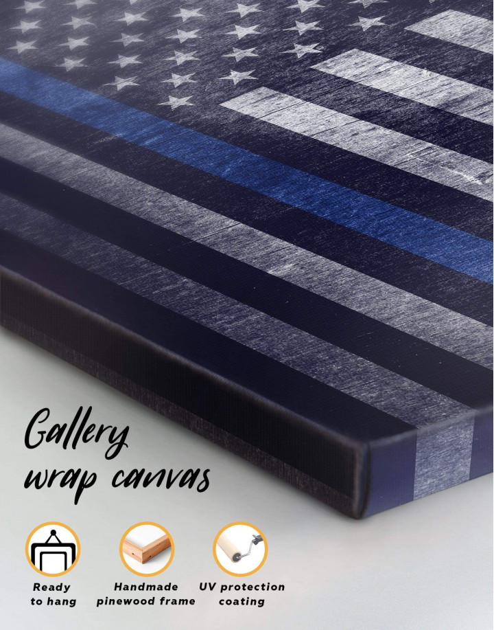 Modern Flag Of The USA  Canvas Wall Art - Image 5