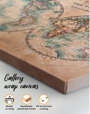 Rustic Hemispheres World Map Canvas Wall Art - Image 7