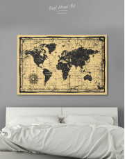 World Old Style Map Canvas Wall Art