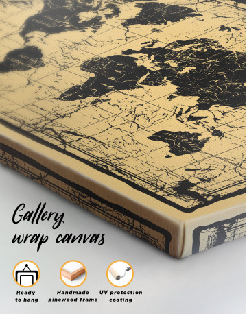 World Old Style Map Canvas Wall Art - image 4