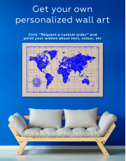 World Old Style Map Canvas Wall Art - Image 5