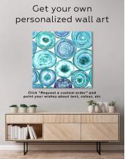 Abstract Circle Canvas Wall Art - Image 4