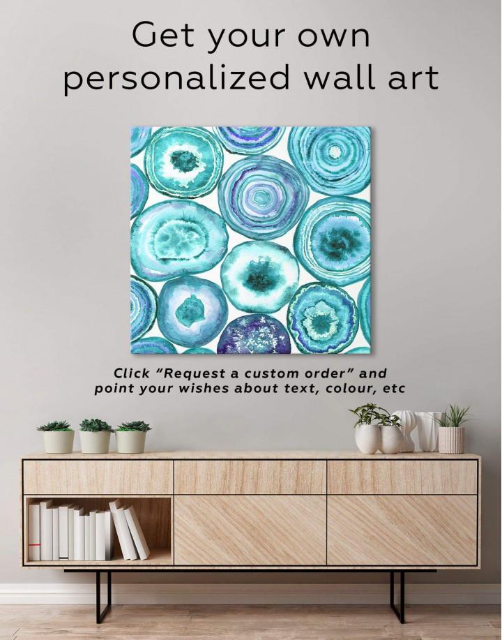Abstract Circle Canvas Wall Art - Image 1