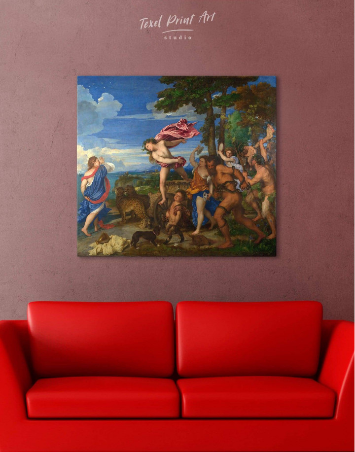 Bacchus and Ariadne by Titian Canvas Wall Art - Image 0