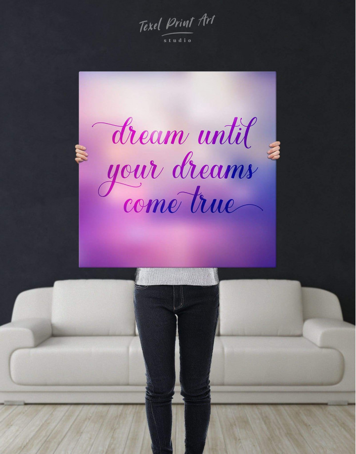 Dream Until Your Dreams Come True Canvas Wall Art - Image 2