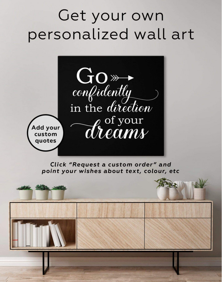Go Confidently In The Direction Of Your Dreams Canvas Wall Art - Image 1