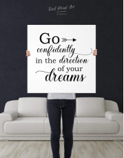 Go Confidently In The Direction Of Your Dreams Canvas Wall Art - Image 2