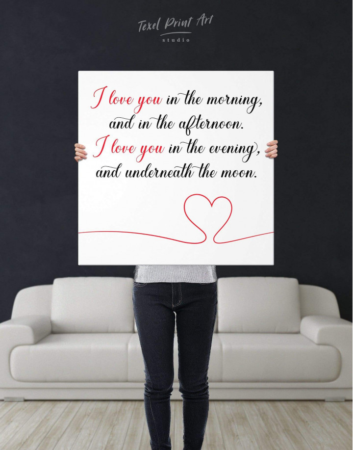 I Love You In the Morning and In the Afternoon Canvas Wall Art - Image 2