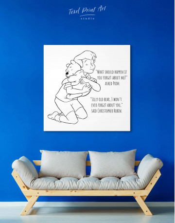 Winnie the Pooh Quote Canvas Wall Art