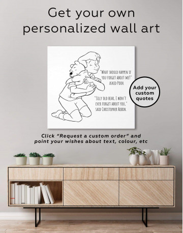 Winnie the Pooh Quote Canvas Wall Art - image 1