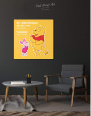 Winnie the Pooh Quote Friendship Citation Canvas Wall Art - Image 3