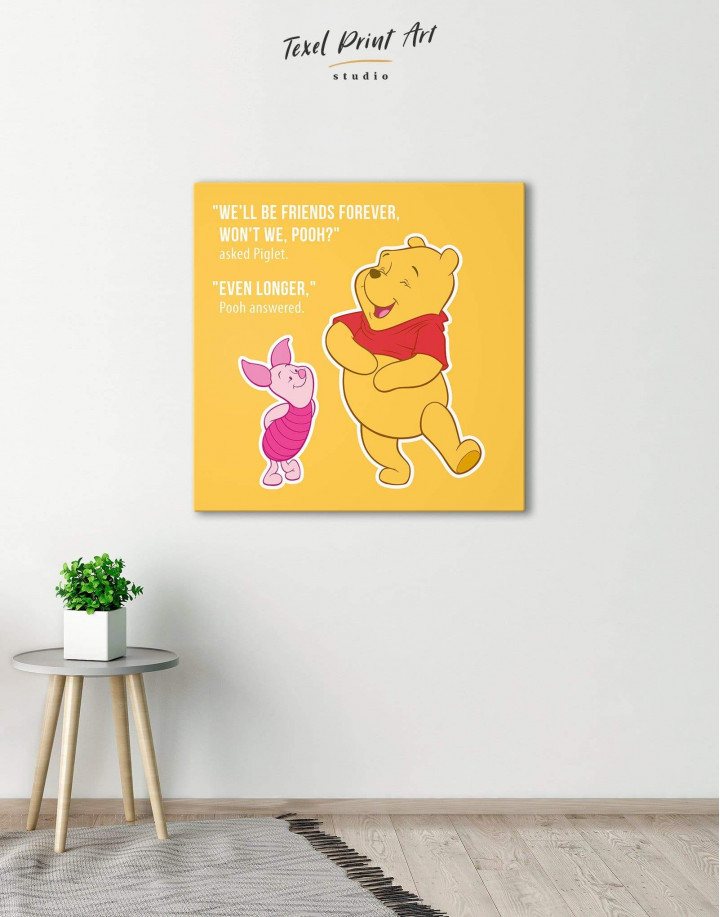 Winnie the Pooh Quote Friendship Citation Canvas Wall Art - Image 0