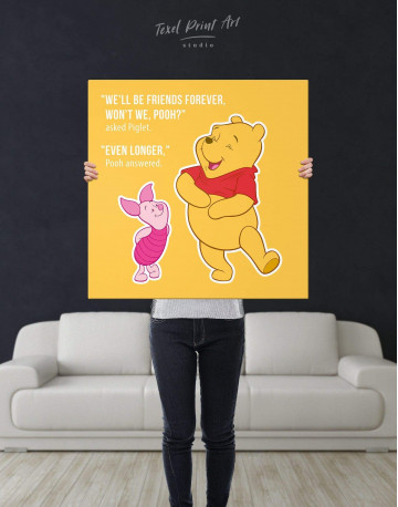 Winnie the Pooh Quote Friendship Citation Canvas Wall Art - image 2